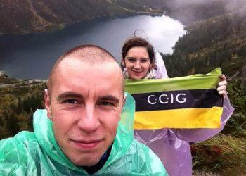 Akcja Flaga 2015 CCIG - Paulina Pyrek i Mateusz Szczygiel